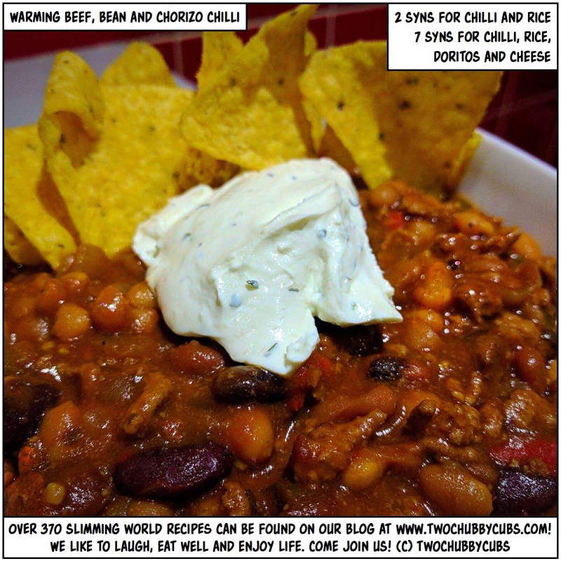 beef, bean and chorizo chilli