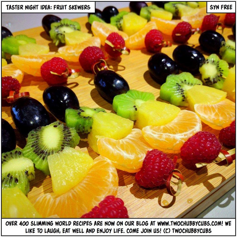 taster night fruit skewers