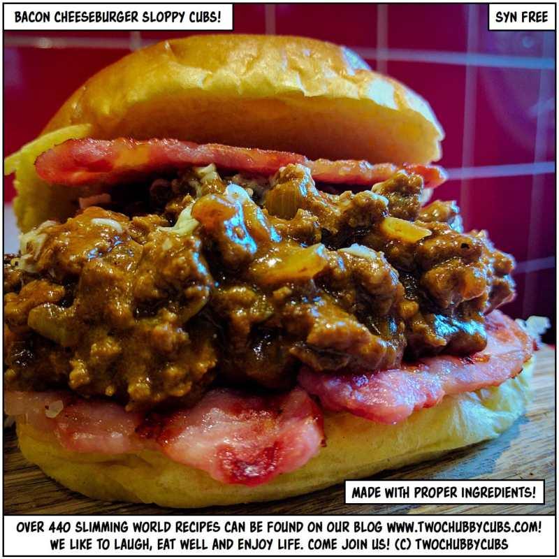 bacon cheeseburger sloppy cubs