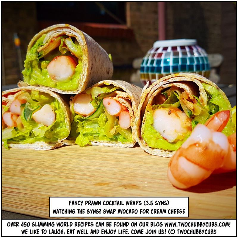 fancy Slimming World prawn cocktail wraps
