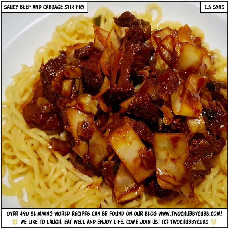 saucy beef and cabbage stir fry