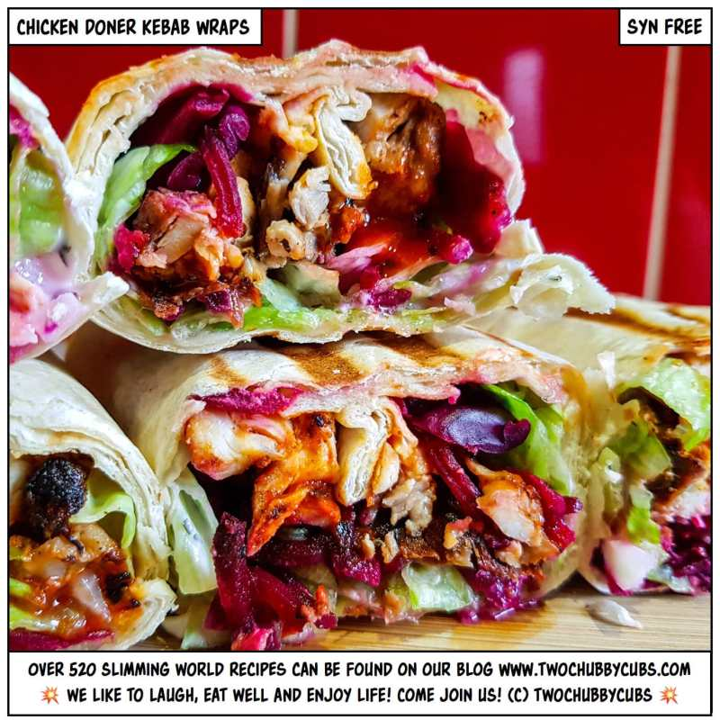 chicken doner kebab wraps