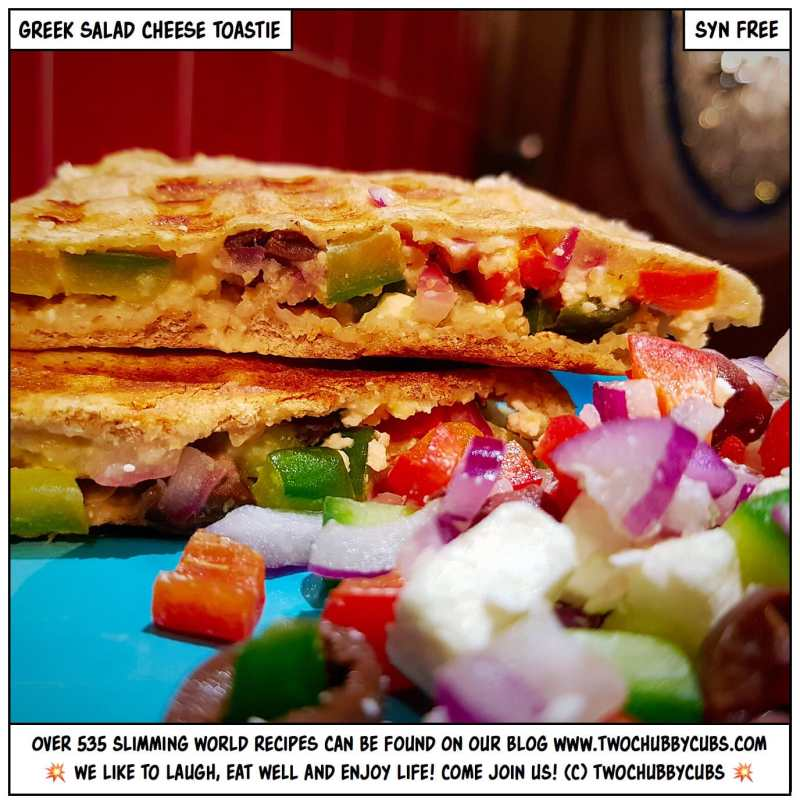 greek salad cheese toastie
