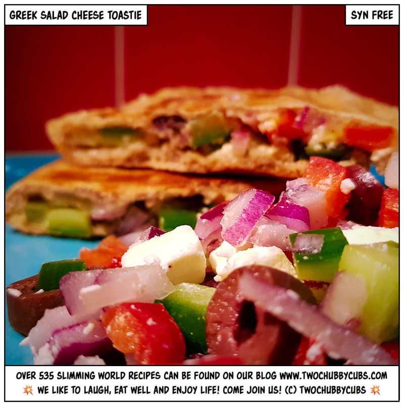 greek salad cheese toastie