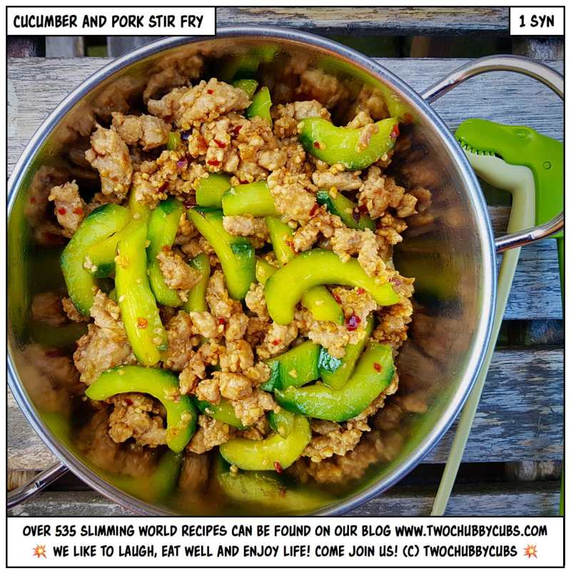 stir fry cucumber and pork
