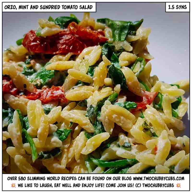 orzo, mint and sundried tomato salad