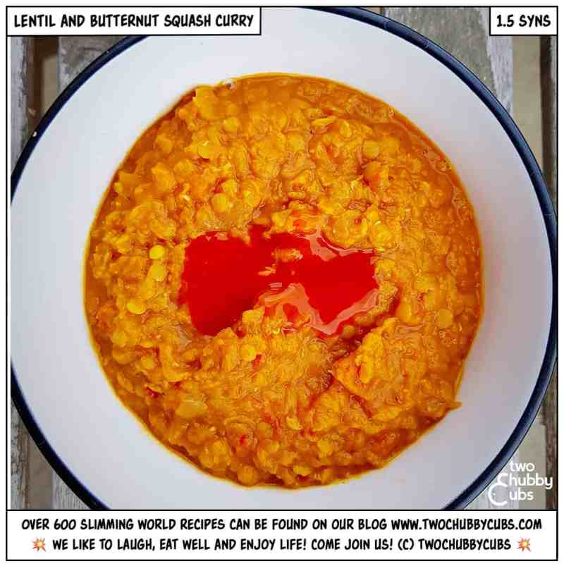 lentil and butternut squash curry