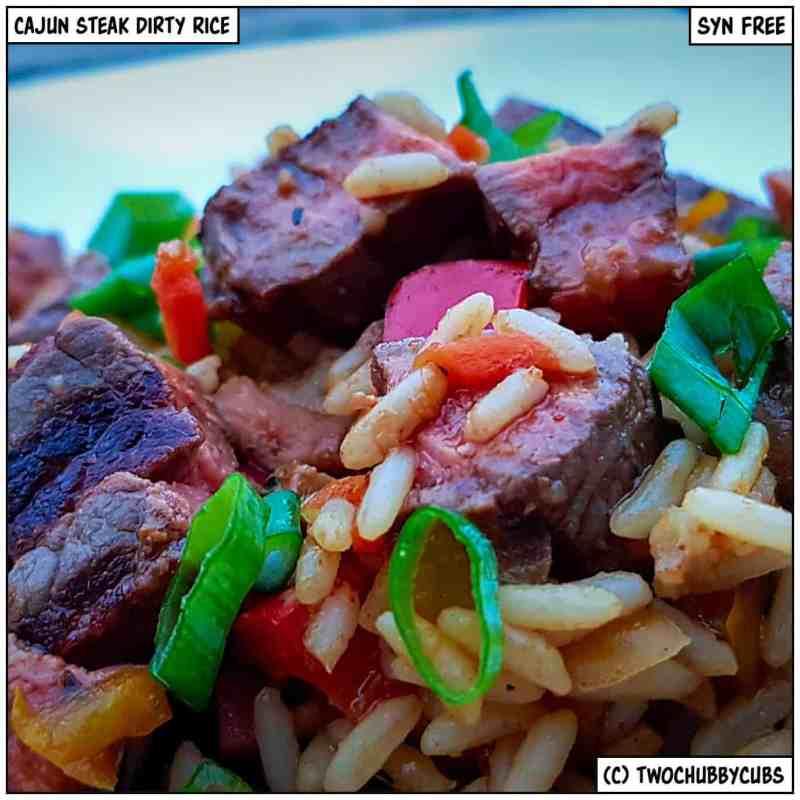 cajun steak dirty rice