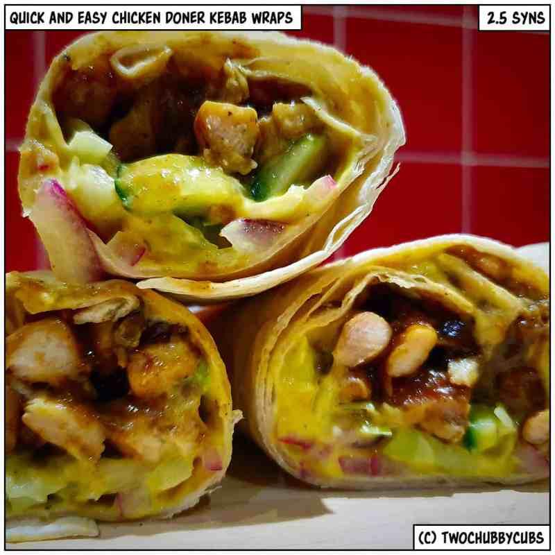 chicken kebab wraps