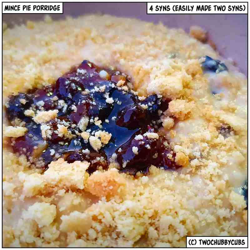 mince pie porridge