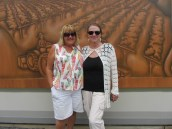 Me and Jo in front of one of the many murals