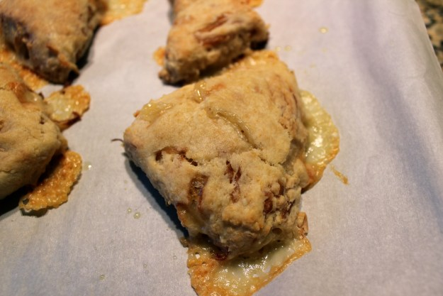 http://twocooksonepot.com tasty gruyere and caramelized onion scones