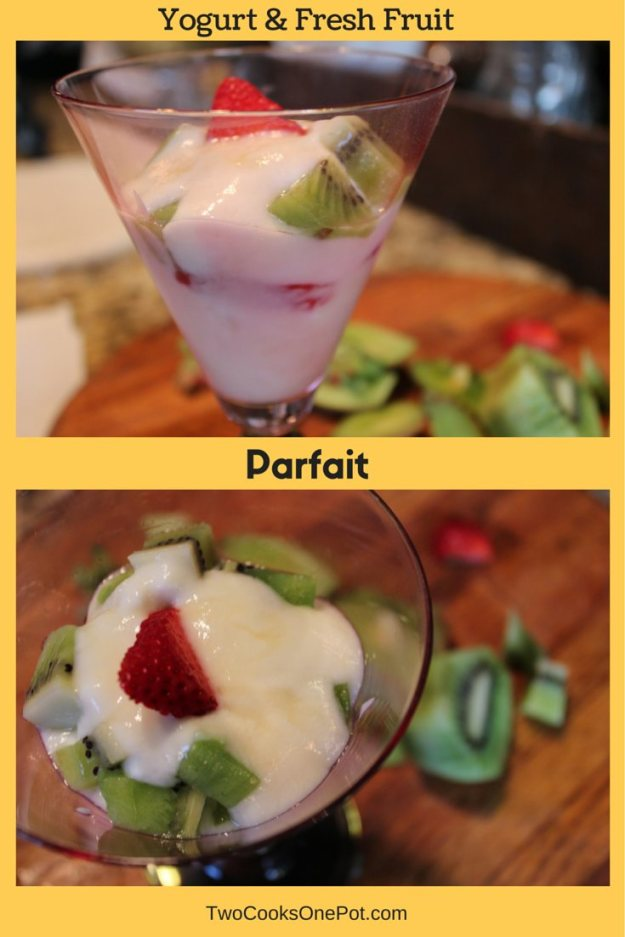 http://twocooksonepot.com Yogurt and Fresh Fruit Parfait