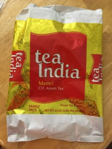 a package of Tea India tea dust