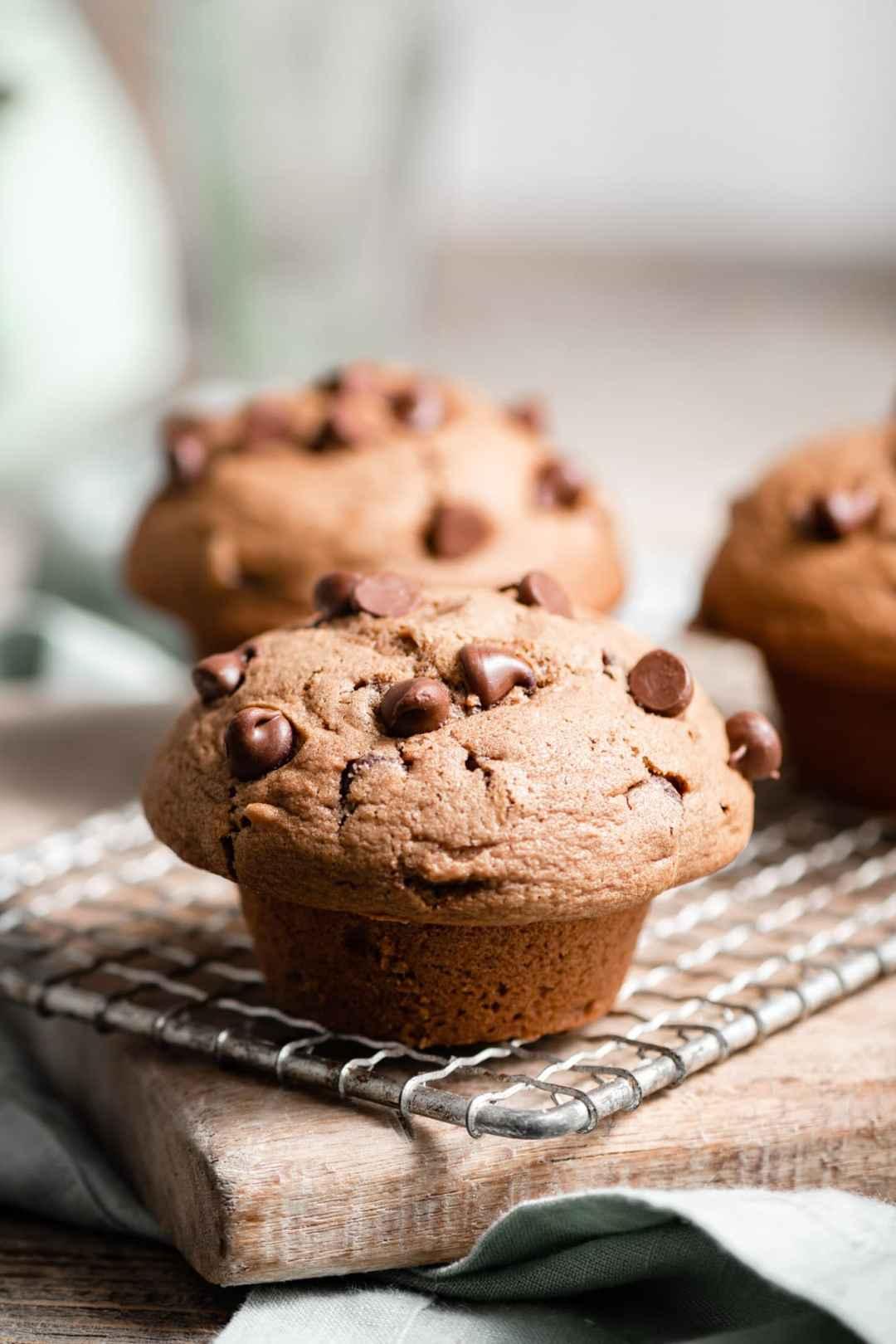 FLuffy Chocolate Chip Muffin Recipe.