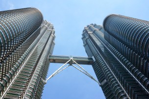 View from below the Petronas Towers