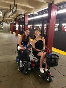 Avery sisters at NYC subway platform