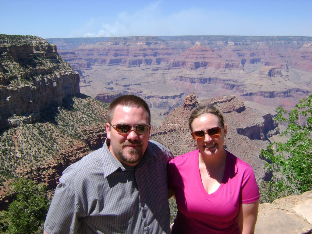 Jason and Laura in Grand Canyon National Park