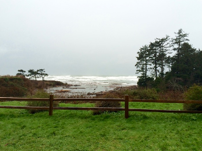 View of the Pacific Ocean from Kalaloch Lodge in Olympic National Park