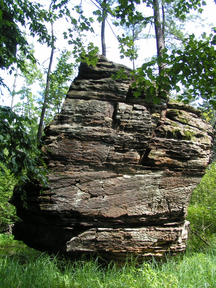 Sandstone formation in gorge of Rocky Arbor State Park