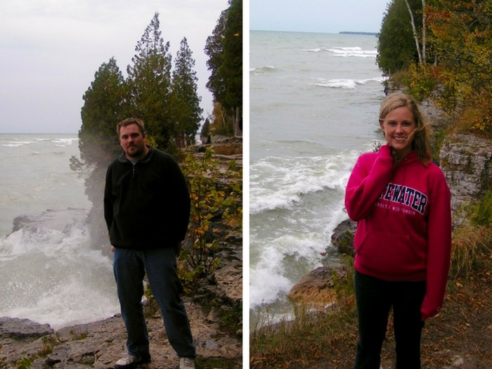 Jason and Laura at Cave Point County Park