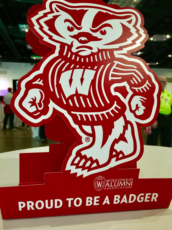Bucky Badger centerpieces from the Wisconsin Alumni Association