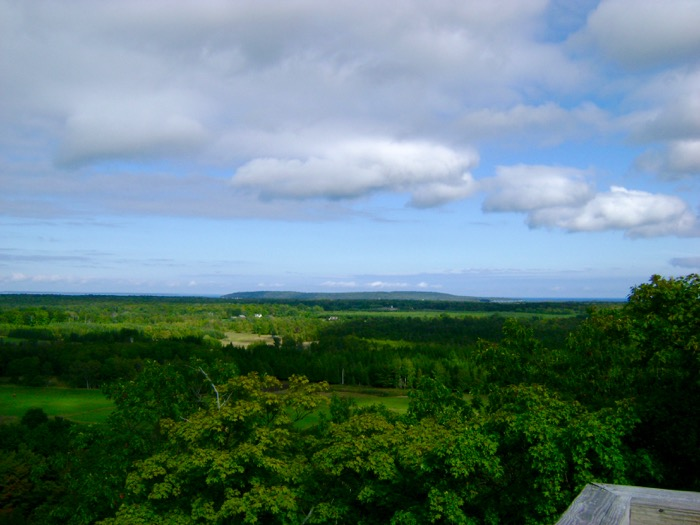 View of Washington Island from a lookout tower