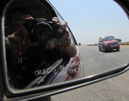 nearer than they appear car mirror