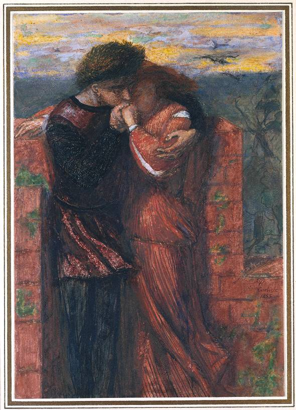 Carlisle Wall (The Lovers) 1853 by Dante Gabriel Rossetti 1828-1882