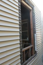 Reframed, removing siding