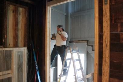 Dean installs furring