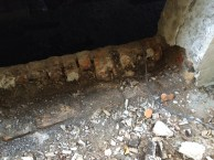 Sill and brick removed