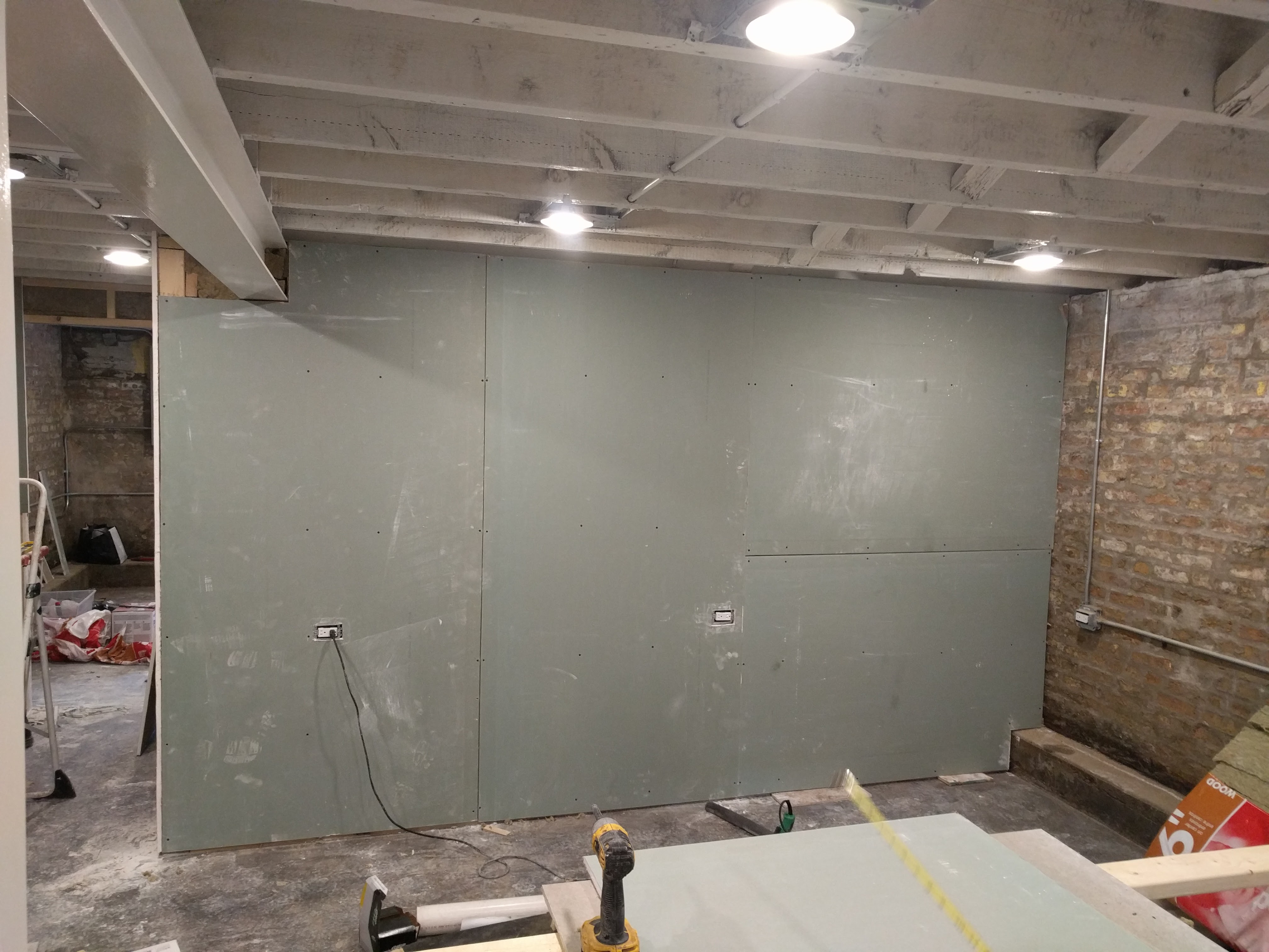 Basement Permanent Wall Drywall Hanging Two Flat Remade