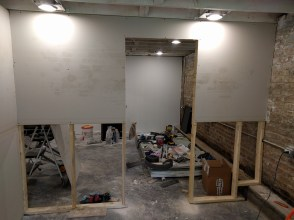 Drywalling temporary walls