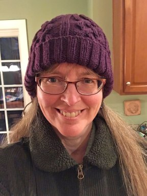 Eggplant-Cabled-Hat