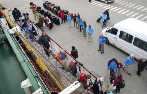 The One Ocean crew lined up to personally greet everyone and welcome them aboard.