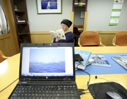 ...a great time to catch up on some reading, and do a little work before we arrive to Antarctica.