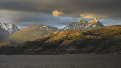 Beautiful Tierra del Fuego at sunset.