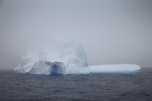 ...which included this cave that was carved into the iceberg by the relentless forces of the Drake.