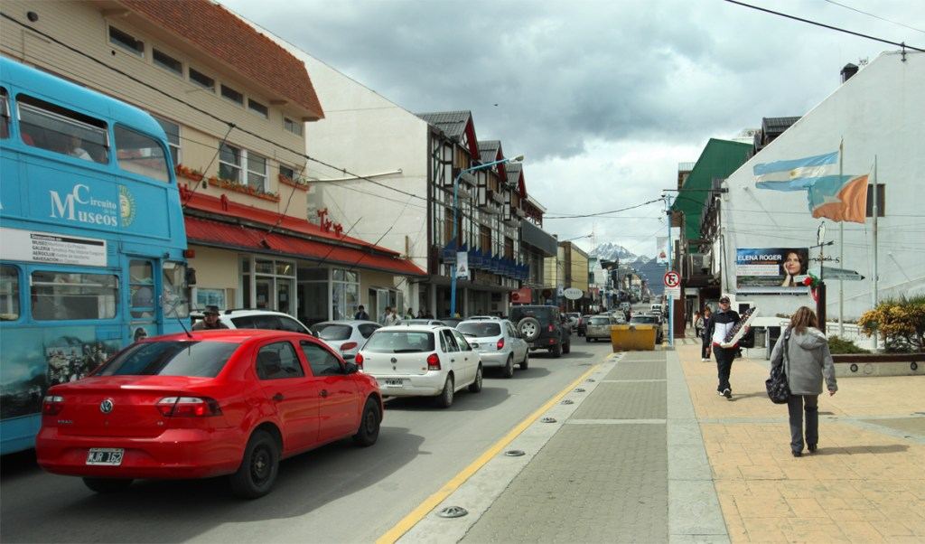The Shops Along Av. San Martin in Ushuaia