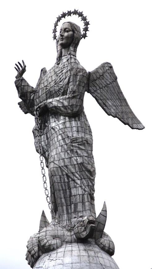 The Virgin of Quito stands silent watch over the city from the top of El Panecillo.