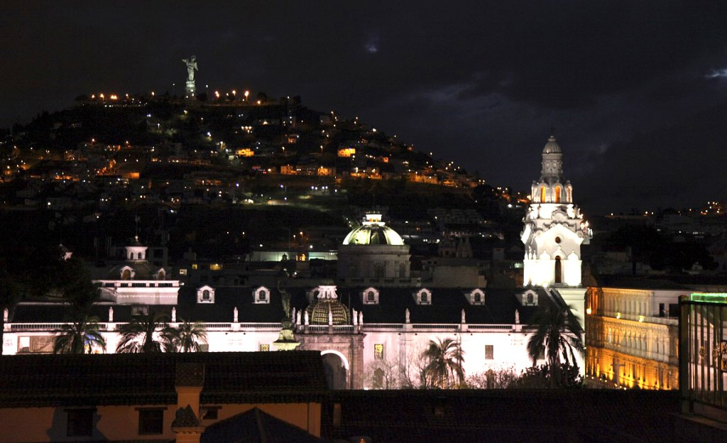 The view of Quito (El Panecillo) from Vista Hermosa