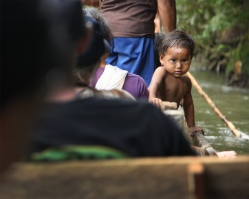 A young Huaroani boy named Julio whose family joined us for a trip down the river.