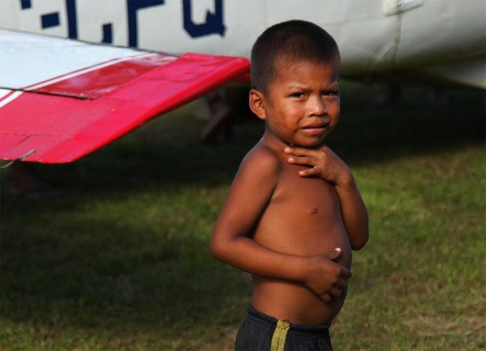 A young Huaorani boy.