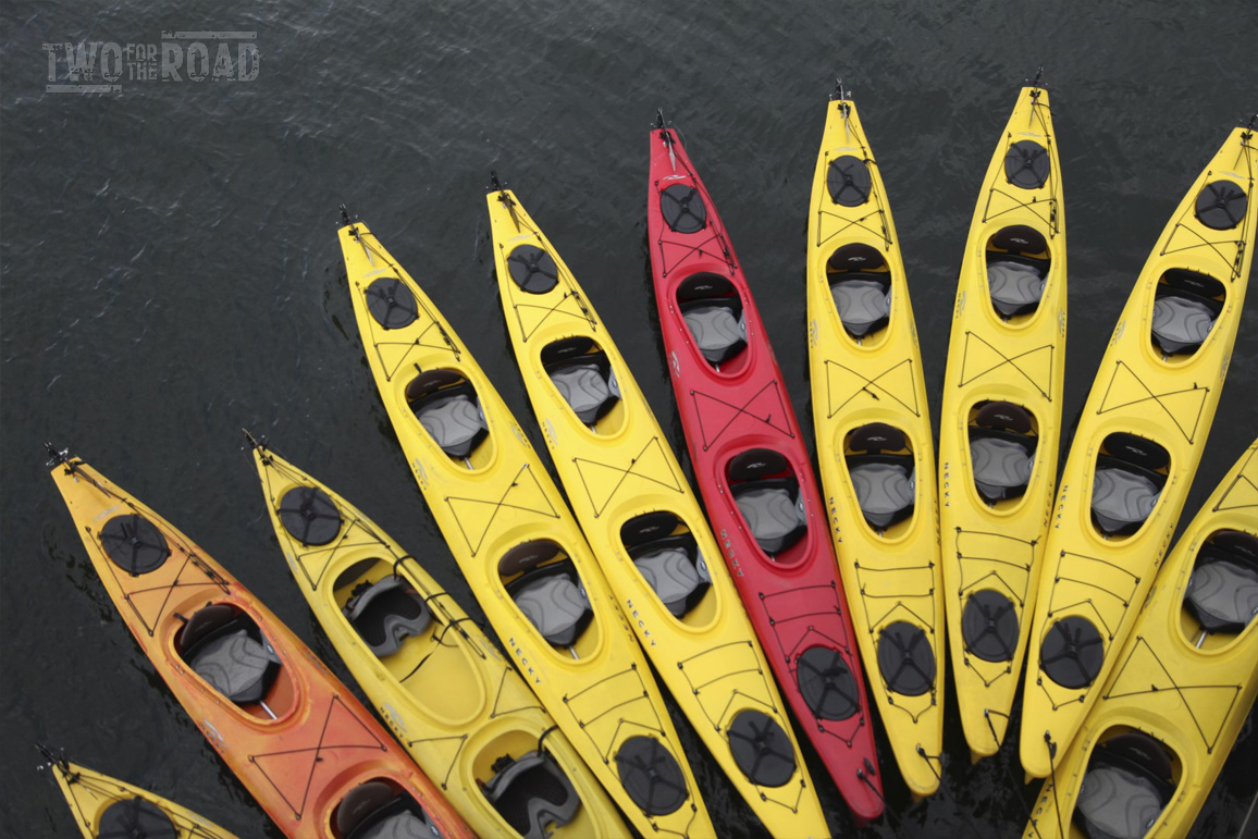 Two for the Road Photo of the Day: Kayaks in Alaska