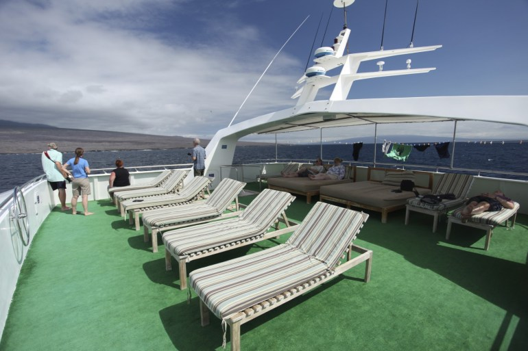 The sun deck! Our favorite spot on board.