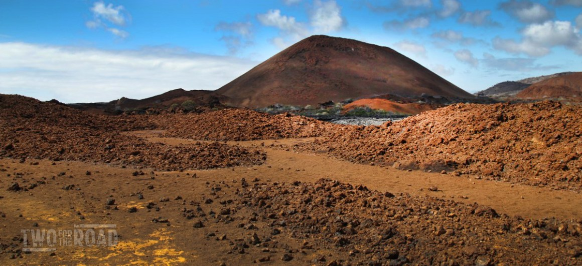 The Volcanic Landscape of Isla Santiago, Galapagos
