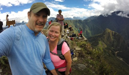 Atop Machu Picchu Mountain in Peru!