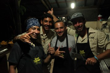 Our awesome bunch of river guides/chefs/drinking buddies. At the Rios Tropicales Lodge in Costa Rica.