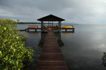 The dock at Tranquilo Bay, Panama.